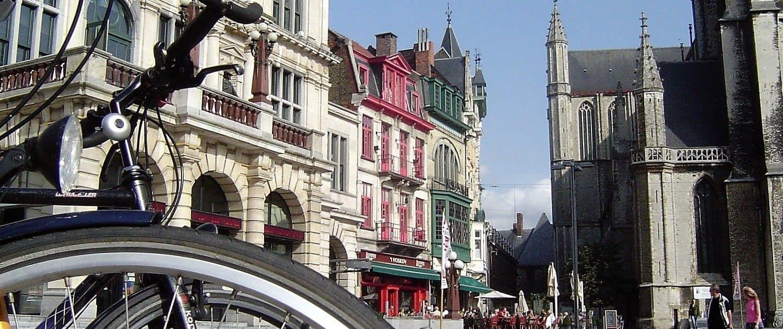 Op de fiets door Gent