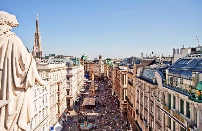 Winkelstraat Graben in Wenen