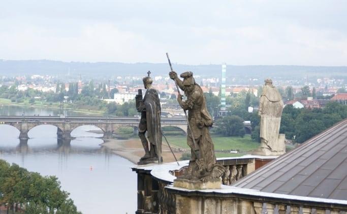 Brug over de Elbe in Dresden