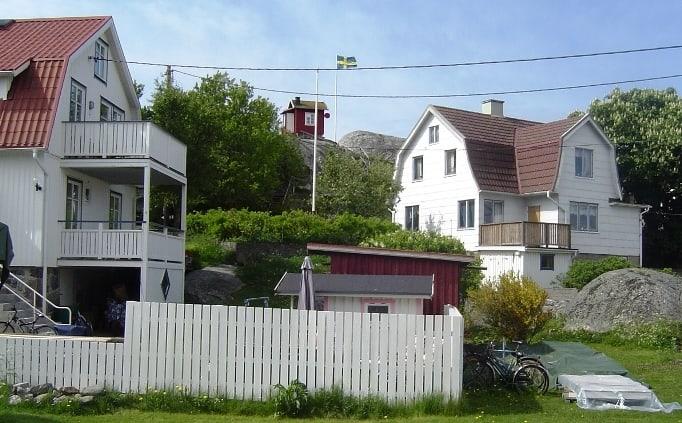 Het eiland Vrango bij Göteborg