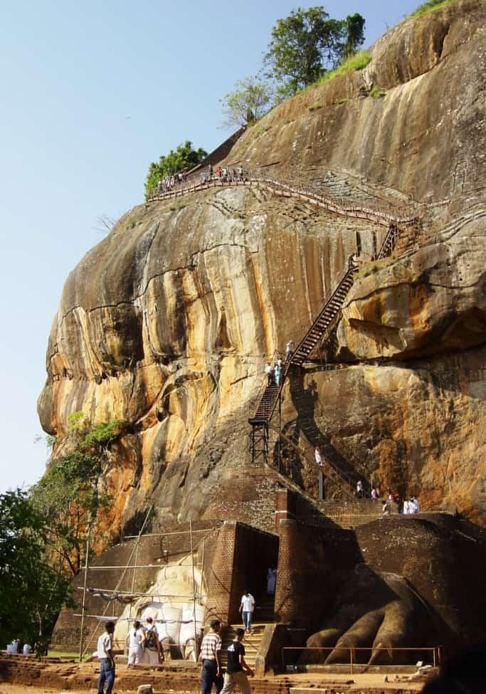 De leeuwenrots in Sigiriya