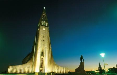 De kathedraal van Reykjavik