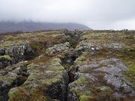 Een lavaveld niet ver van Reykjavik