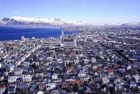 Reykjavik vanuit de lucht