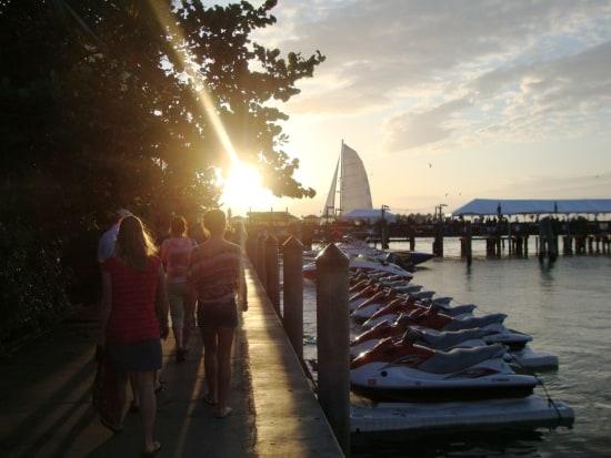 Zonsondergang in de haven van Key West