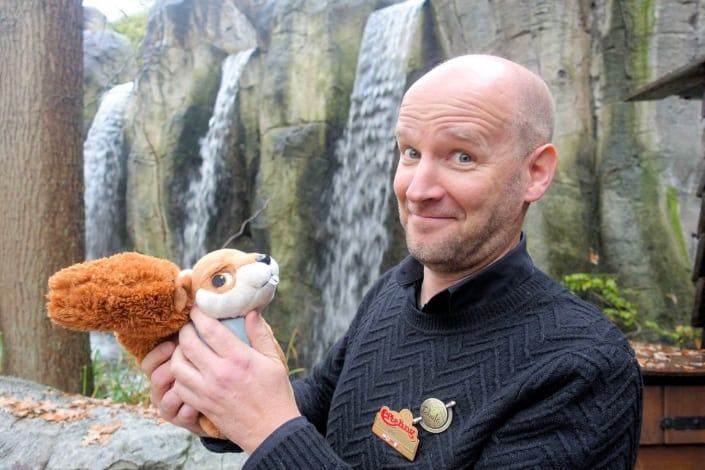 Jeroen Verhey, ontwerper van Fabula in de Efteling